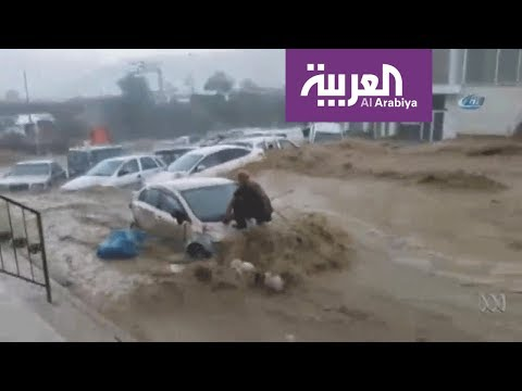 شاهد كارثة في العاصمة التركية بسبب الأمطار