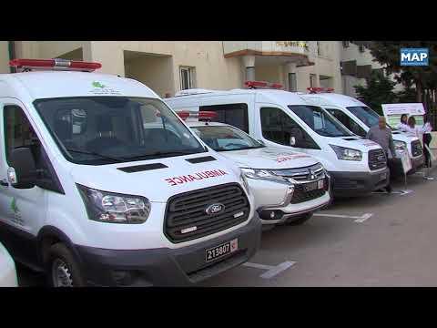 شاهد سيارات إسعاف هبة من مجلس جهة فاسمكناس