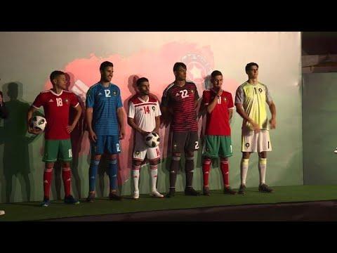 شاهد المغرب يكشف عن قميصه ويستهل تحضيراته خلال مونديال 2018