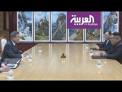 بالفيديو لقاء بين زعيمي الكوريتين