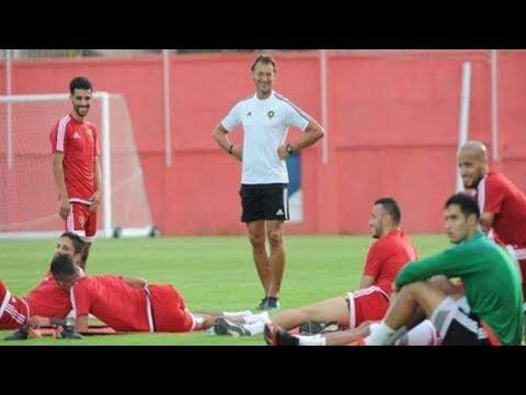 لاعبو المنتخب المغربي يدخنون الشيشة