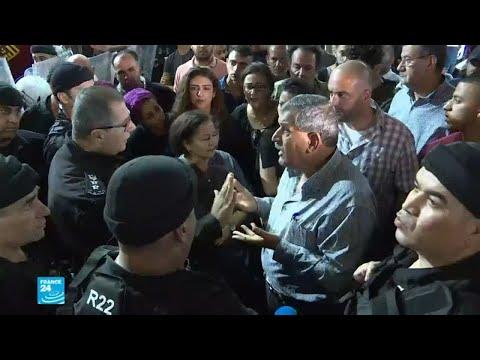 شاهد السلطة الفلسطينية تفرق مظاهرة تضامنية مع غزة في رام الله