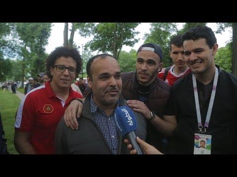 شاهد فلسطيني وجزائري يتمنيان فوز الأسود علي إيران