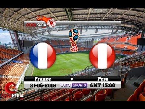 شاهد البث المباشر لمباراة فرنسا وبيرو