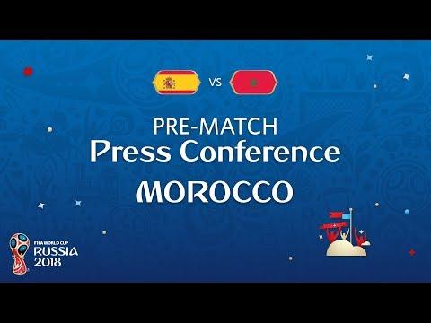 شاهد مؤتمر صحافي للمنتخب المغربي بحضور المدير الفني رونار