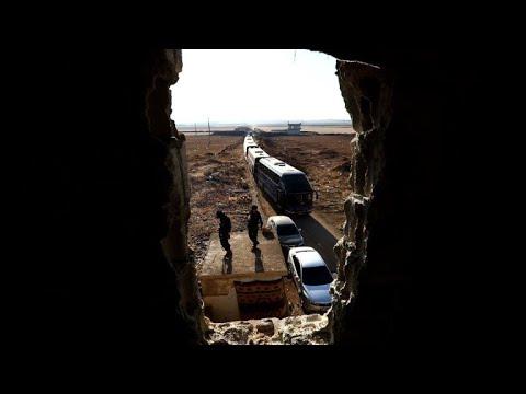 شاهد بدء التحضيرات لإجلاء سكان بلدتي الفوعة وكفريا في سورية