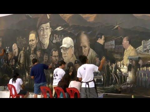 شاهد فنانون يوثقون لحظات إنقاذ أطفال الكهف في لوحة زيتية