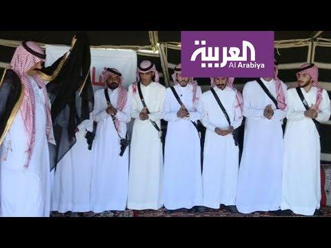 شاهد رقصة الدحية في تبوك شمال السعودية