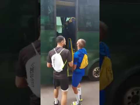 شاهد أجواء رائعة بفريق الرجاء قبل موقعة كأس الاتحاد