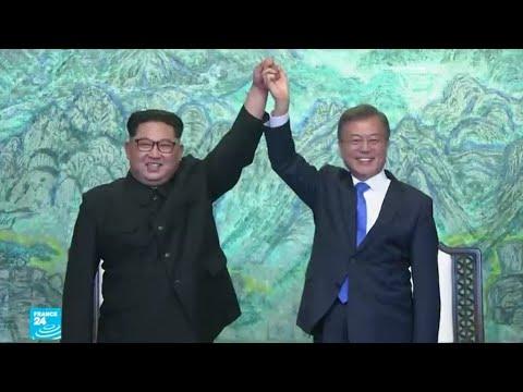 بالفيديو رئيس كوريا الجنوبية يزور الشمال