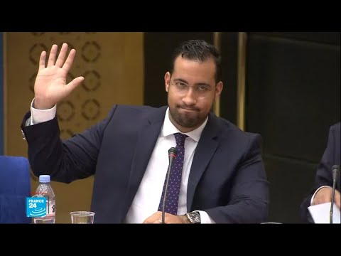 شاهد بينالا يدافع عن نفسه خلال جلسة استماع في مجلس الشيوخ الفرنسي