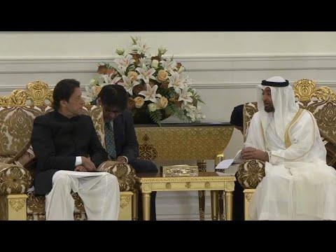 شاهد رئيس وزراء باكستان يلتقي ولي عهد أبو ظبي