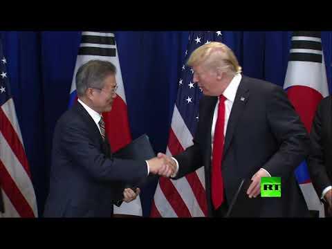 شاهد لحظة توقيع ترامب على اتفاقية جديدة مع كوريا الجنوبية