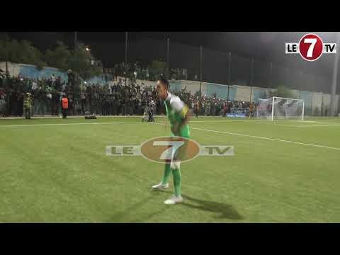 شاهد احتفال بدر بانون مع جمهور الرجاء بعد الفوز على وادي زم