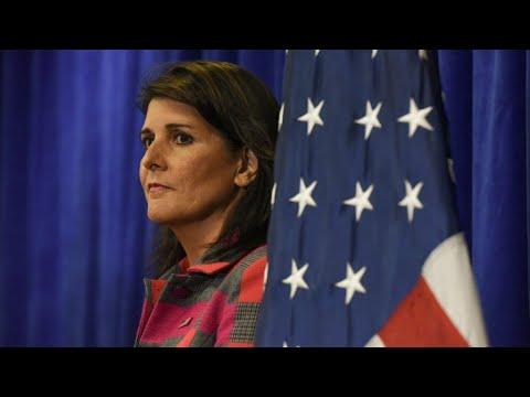 شاهدسفيرة واشنطن لدى الأمم المتحدة نيكي هايلي تُعلن استقالتها
