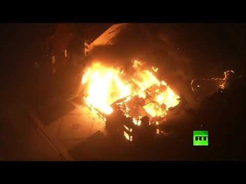 حريق كامب فاير يلتهم مقاطعة في كاليفورنيا