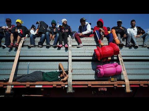 مهاجرون يستقلّون شاحنات دجاج للوصول إلى الحدود الجنوبية بين الولايات المتحدة والمكسيك