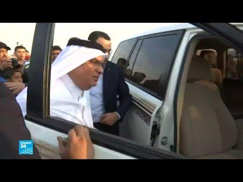 شاهد ترحيب بمحمد العمادي الدبلوماسي القطري خلال زيارته لغزة