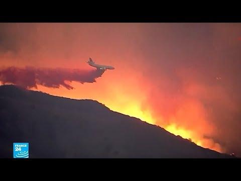 شاهدحريق كاليفورنيا يحوّل أحياء كاملة إلى رماد