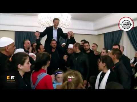 مختطفو السويداء المحررون يحملون الأسد على الأكتاف