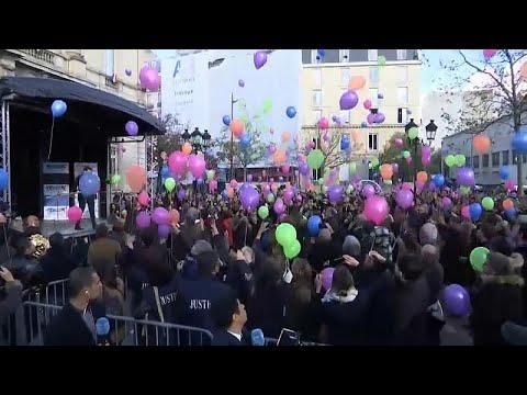 بالونات في سماء عاصمة الأنوار في الذكرى الثالثة لهجمات باريس