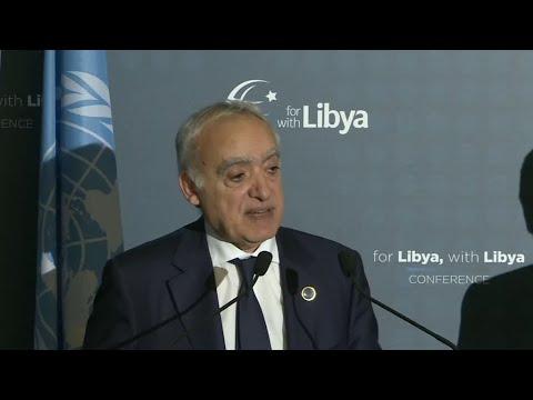 شاهد تعليق غسان سلامة في ختام مؤتمر باليرمو على مقاطعة حفتر