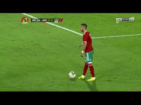 ملخص الشوط الأول من مباراة المغرب والكاميرون