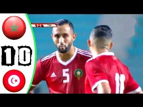شاهد ملخص المباراة الودية بين منتخبي المغرب و تونس