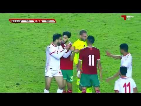 اشتباكات عنيف بين لاعبي المنتخب المغربي و التونسي