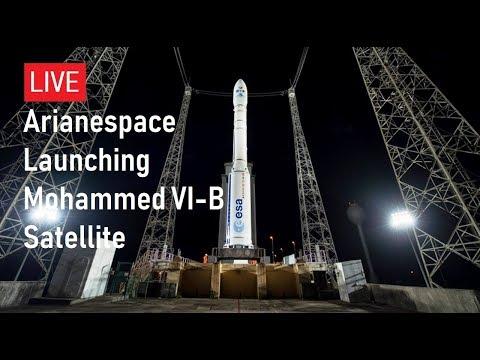 شاهدلحظة انطلاق القمر الاصطناعي محمد السادس – ب من قاعدة غوايانا