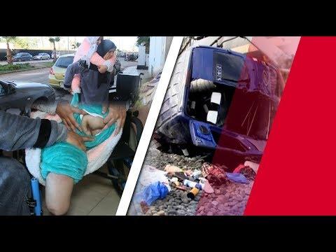 شاهد مغربية تفقد قدميها في حادث قطار وهذا ما فعله زوجها