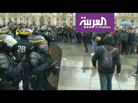 شاهد مُدرّعات في شوارع فرنسا واعتقال المئات في السبت الأسود