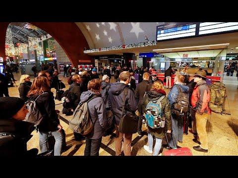 شاهد السترات الصفراء تصل ألمانيا بإضراب عمال السكك الحديدية