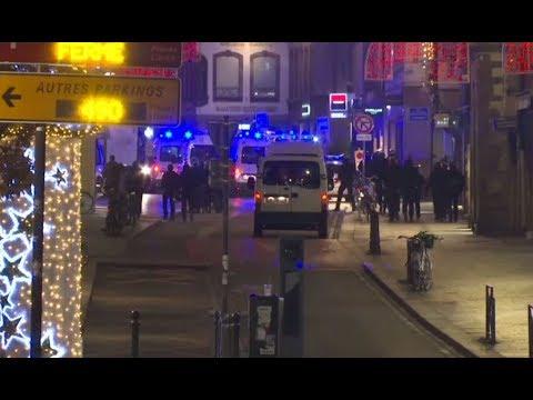 مكان حادثة إطلاق النار في مدينة ستراسبورغ الفرنسية