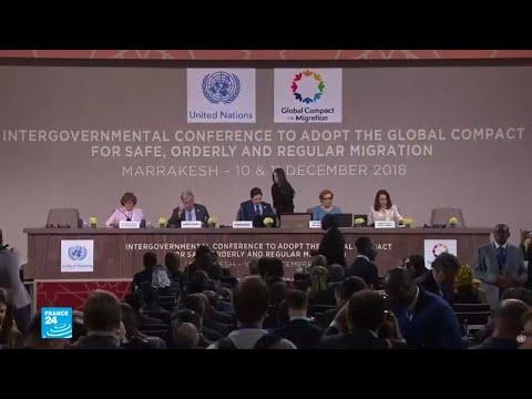150 دولة تتبنى ميثاق الأمم المتّحدة بشأن الهجرة في مؤتمر مراكش