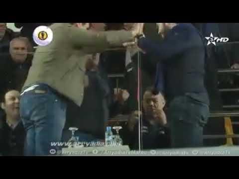 شاهد رد فعل رئيس الاتحاد المغربي مع الرئيس المنتدب لنادي نهضة بركان