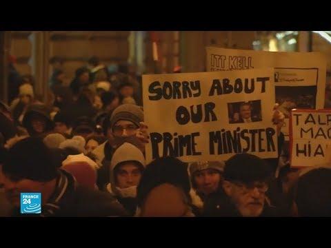 شاهد مظاهرات في المجر احتجاجًا على سياسة رئيس الحكومة فيكتور أوربان