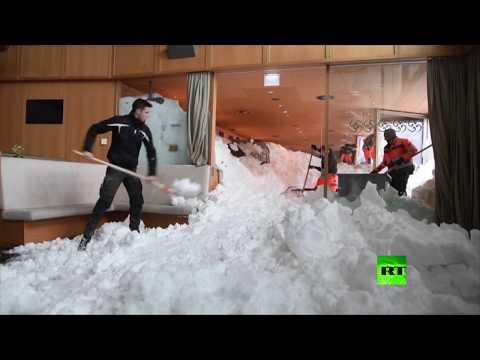 انهيار ثلجي يضرب فندقا في سويسرا