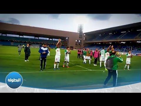 شاهد فرحة لاعبي الرجاء البيضاوي مع الجماهير في ملعب مراكش