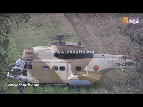 شاهد  تفاصيل سقوط طائرة حربية تابعة للدرك الملكي في تاونات