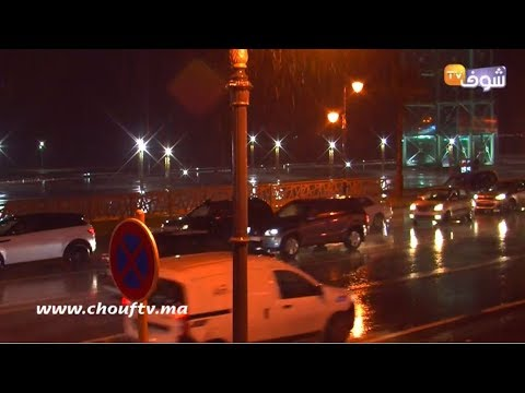 شاهد  أمطار عاصفية ورياح قوية تضرب مدينة طنجة