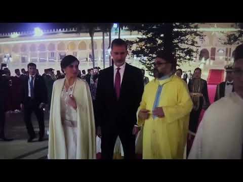 شاهد   الملك محمد السادس يحتفل بزيارة العاهل الإسباني والملكة ليتيثيا للمغرب