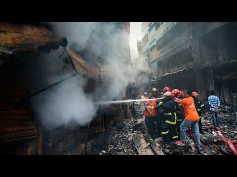 شاهد 70 قتيلا على الأقل في حريق في بنغلادش