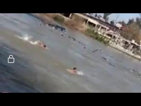 شاهد انقلاب عبَّارة في نهر دجلة شمالي الموصل