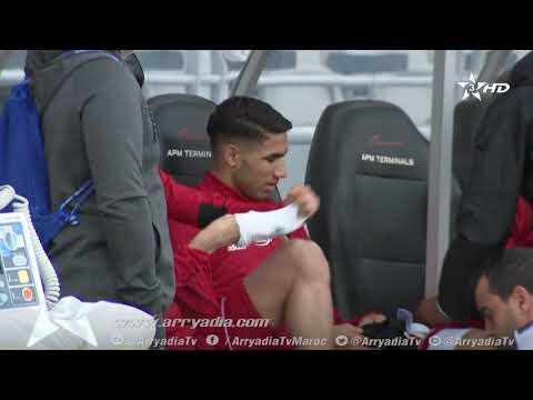 شاهد استعدادات المنتخب الوطني المغربي لمباراته أمام الارجنتين