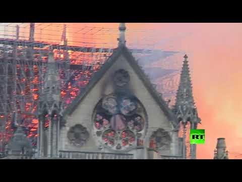 شاهد  حريق في كاتدرائية نوتردام