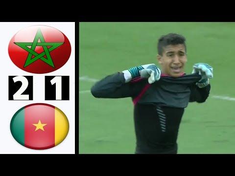 شاهد ملخص مباراة المغرب والكاميرون