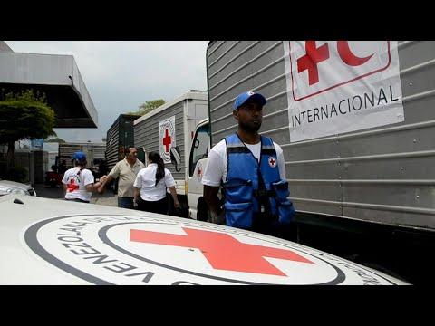 شاهد أولى مساعدات الصليب الأحمر تصل إلى كراكاس في فنزويلا