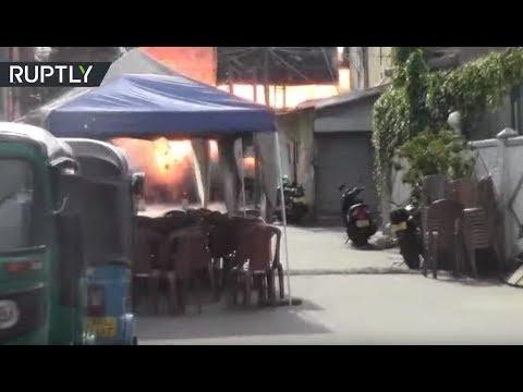 شاهد لحظة تفكيك قنبلة ناسفة قرب كنيسة بسريلانكا