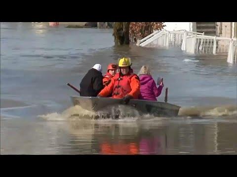 شاهد مقتل شخص و نزوح 1700 بسبب فيضانات في إقليم كيبيك الكندي
